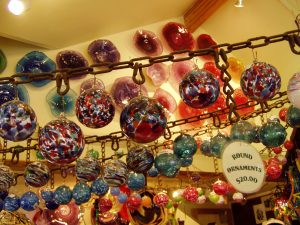 Glass balls at the Glassblower's