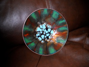 small enameled bowl